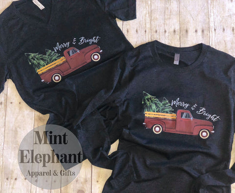 Merry & Bright Truck in Long Sleeves