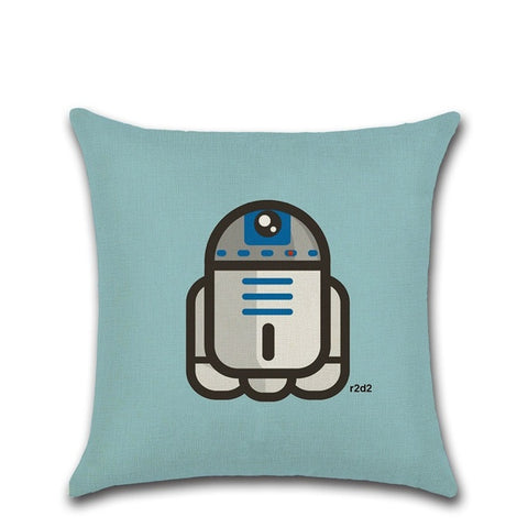 "STAR WARS R2D2 Cartoon Pillow 18"" Square"