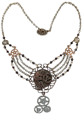 Steampunk Gear Chain Necklace