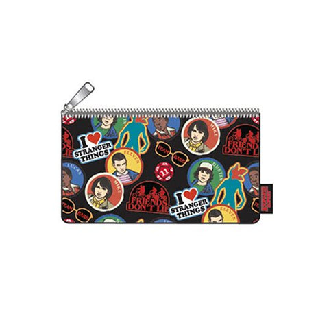 Stranger Things Sticker Print Pencil Case