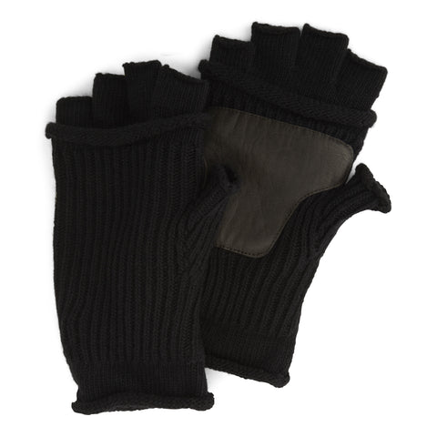 Original Penguin Men's Mixed Rib Fingerless Gloves,