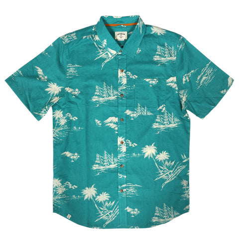 Mystical Voyage Short Sleeve Button Down