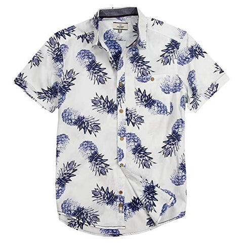 Men's Pineapple Short Sleeve Button Down Shirt