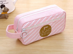 "Cute pink canvas pencil case ""You Light Up My Day"""
