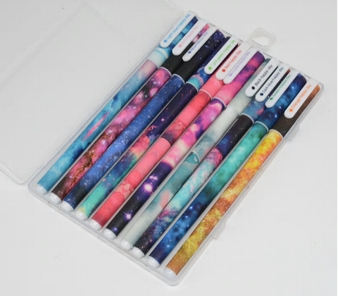 Starry Sky Ball Point Pens (10 piece set in a case)