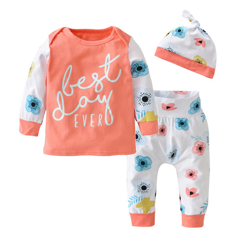 Best Day Ever Long Sleeve 3 pc. Set