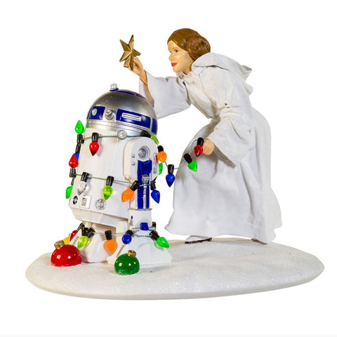 Star Wars Princess Leia and R2-D2 Statue