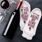 Funny Socks - If You Can Read This Bring Be Some Wine