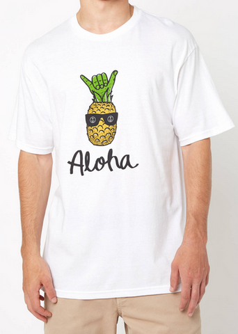 Pineshak Tee Aloho Bruh Pineapple - Men's Large