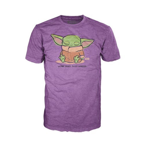The Mandalorian The Child Sleeping Purple Pop! T-Shirt