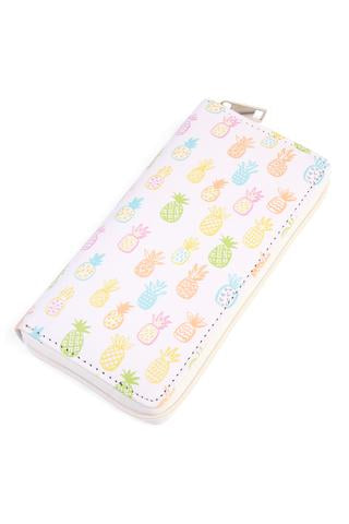 Pineapple Print Full-Size Wallet