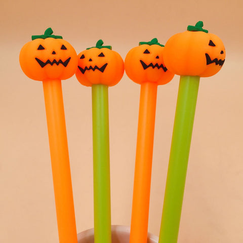 Halloween Pumpkin Gel Ink Pens (2 pieces)
