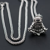 Astronaut Pendant Stainless Steel Chain Necklace