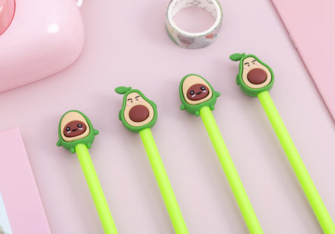 Cute Avocado Gel Pens (4 pc set)