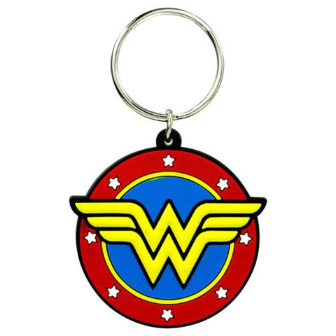 Wonder Woman Classic Logo Soft Touch Key Chain