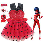 Miraculous Lady Bug Costume (4 pc. set)