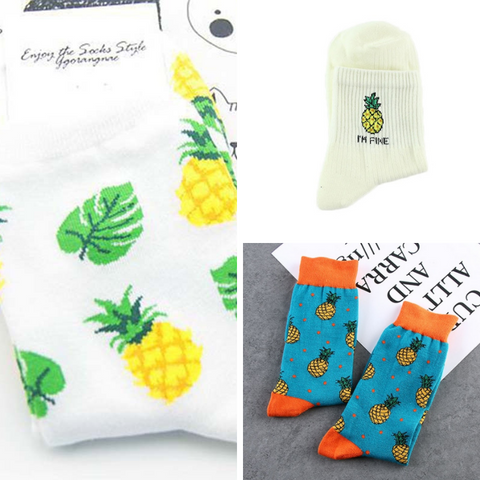 Fresh Fruit Pineapple Socks (multiple designs)