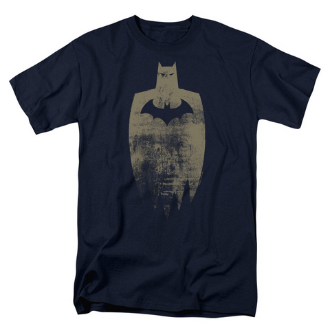 Batman Gold Silhouette T-Shirt Navy
