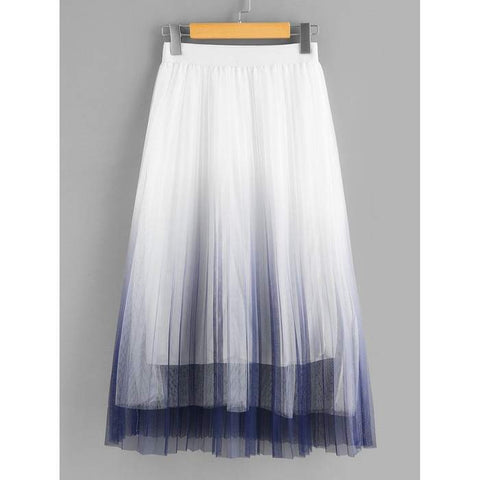 White and Purple Ombre Skirt