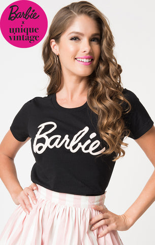 Barbie Logo Black T-Shirt
