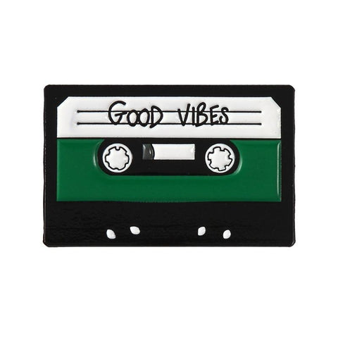 Good Vibes 80s tape cassette enamel Pin