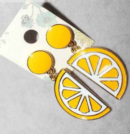 Citrus Fresh Lemon Drop Earrings