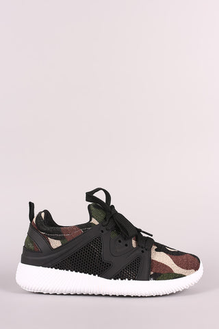 Camouflage Lace Up Sneaker