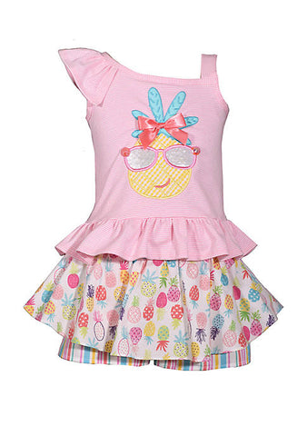 Little Girls Pineapple Skort Set
