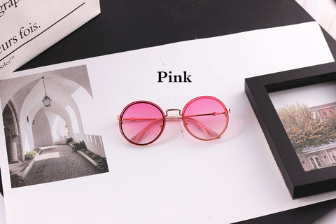 Sunglasses - Pink, Round Frames, Lightweight for child