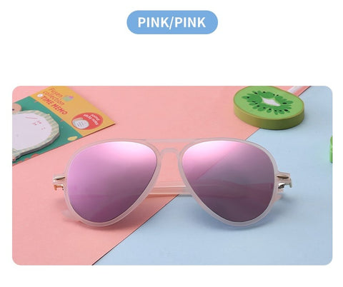 Sunglasses - Children's fit, pink and blue available, flexible
