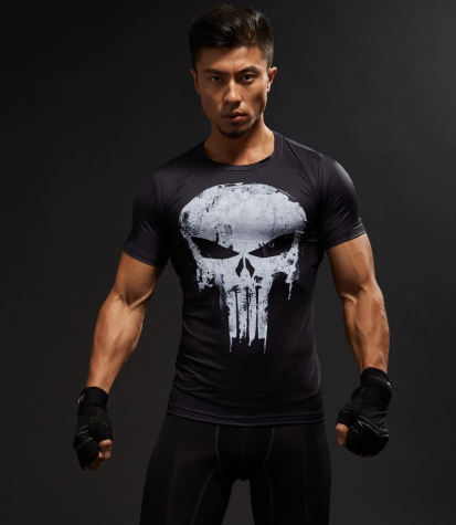Punisher - Men Fitness Compression Shirt