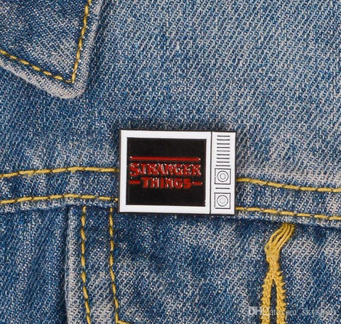 Stranger Things TV Enamel Pin