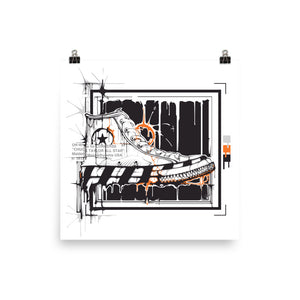 Off-white Converse Poster