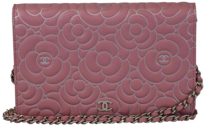 e976588dd55381 Chanel Light Pink/Metallic Silver Camellia WOC – Opulent Habits