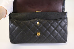 Black Caviar Jumbo Double Flap