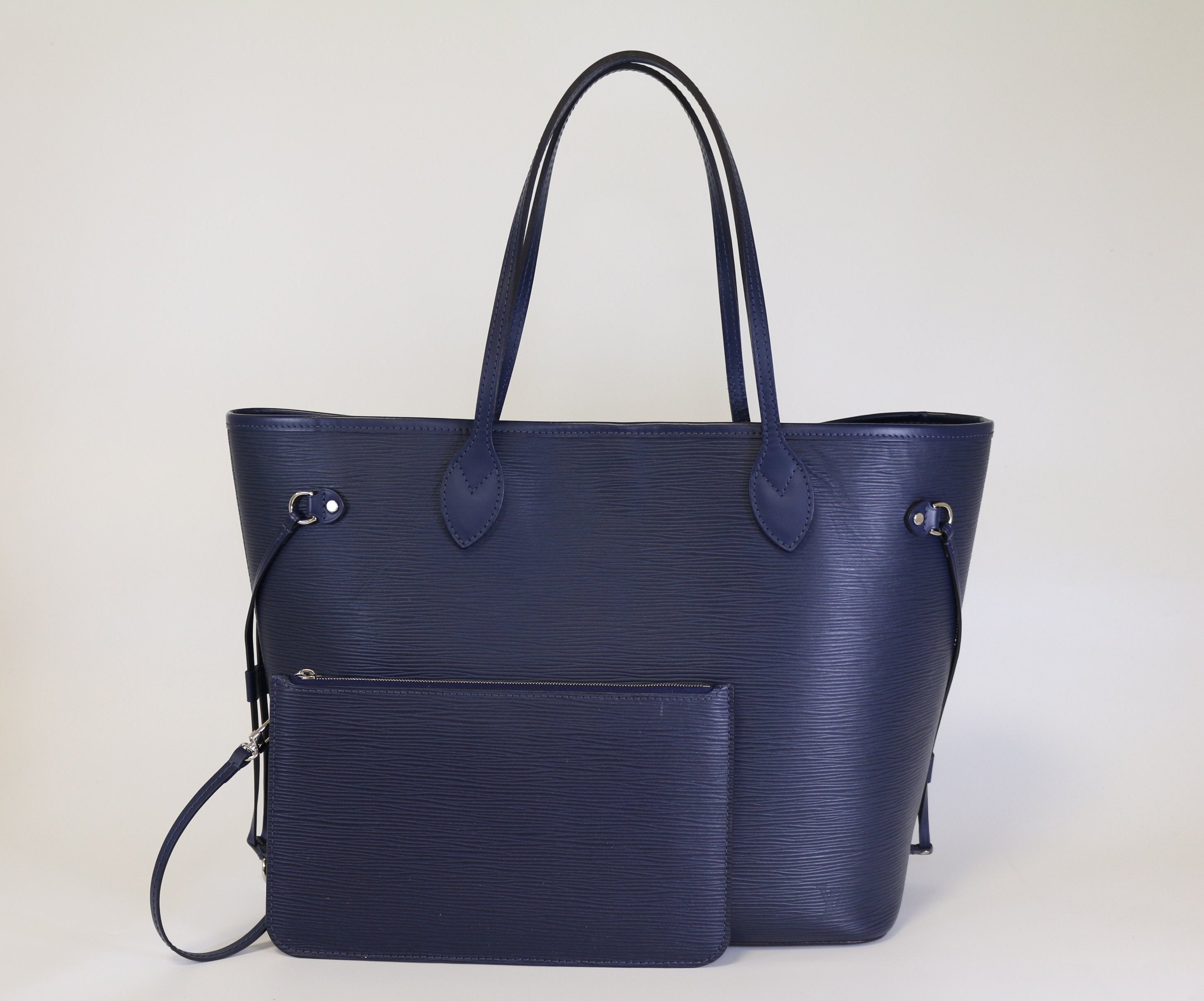 Indigo Epi Leather Neverfull MM