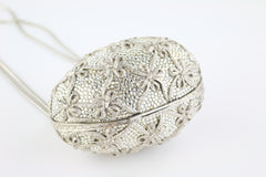 Crystal/Silver Faberge Egg Minaudiere