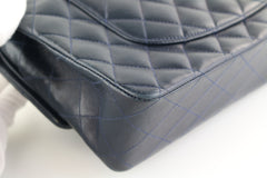 Navy Lambskin Medium Flap