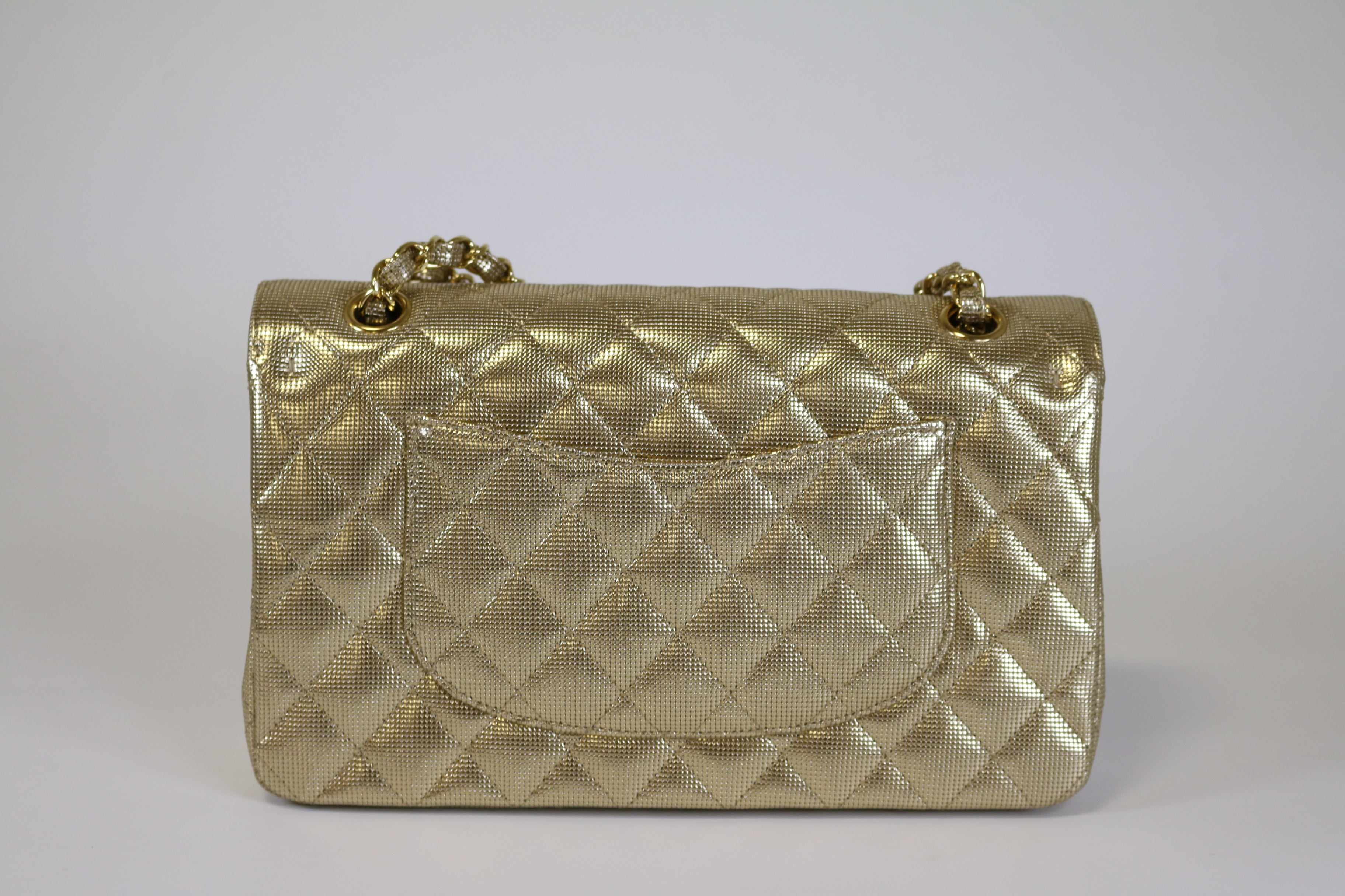 Dark Gold Pixelated Medium Flap