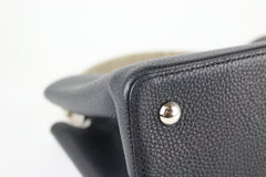 Black/Python Handle Capucines MM