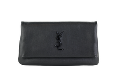 Black Fold Over Clutch