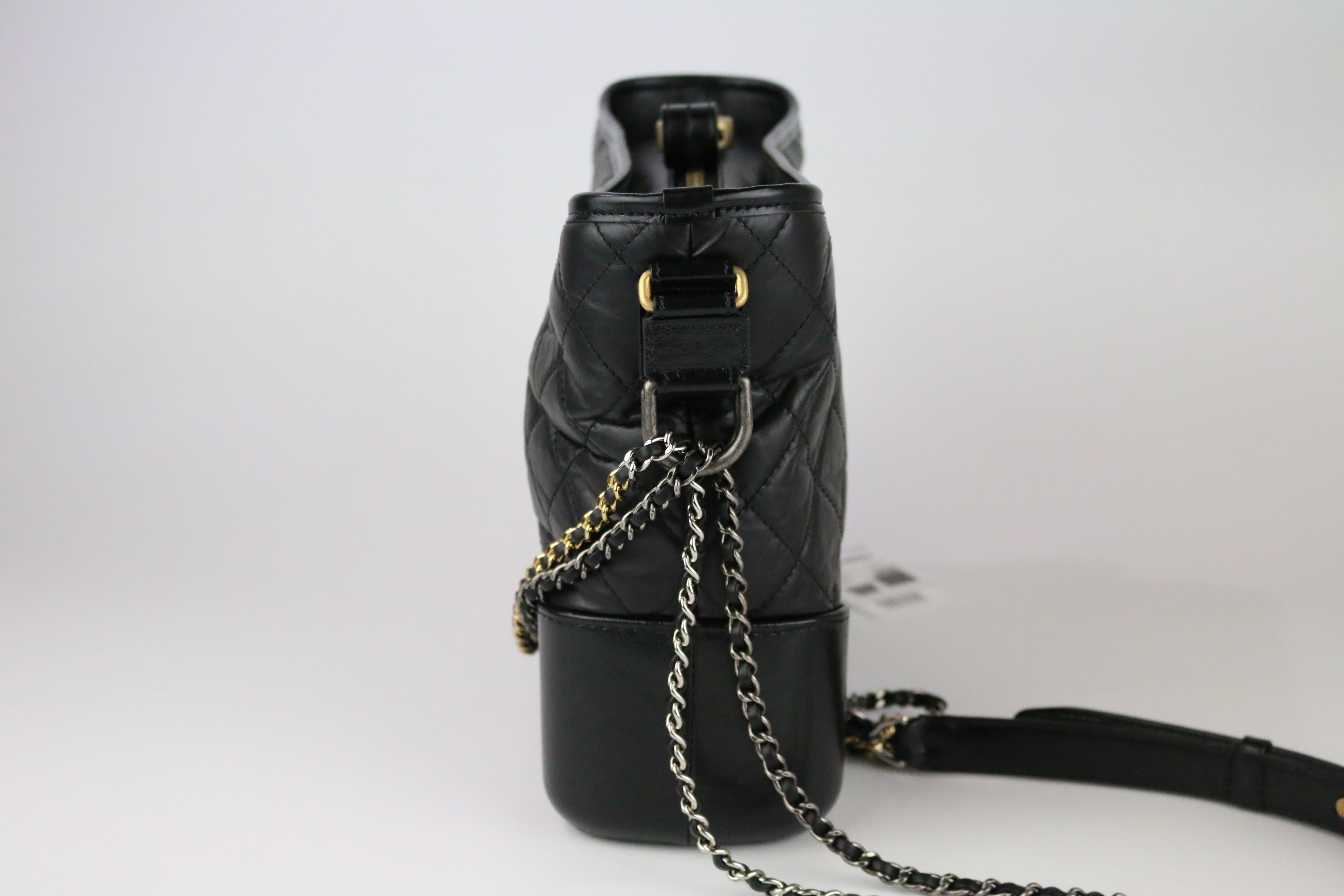Black Calfskin Medium Gabrielle Hobo