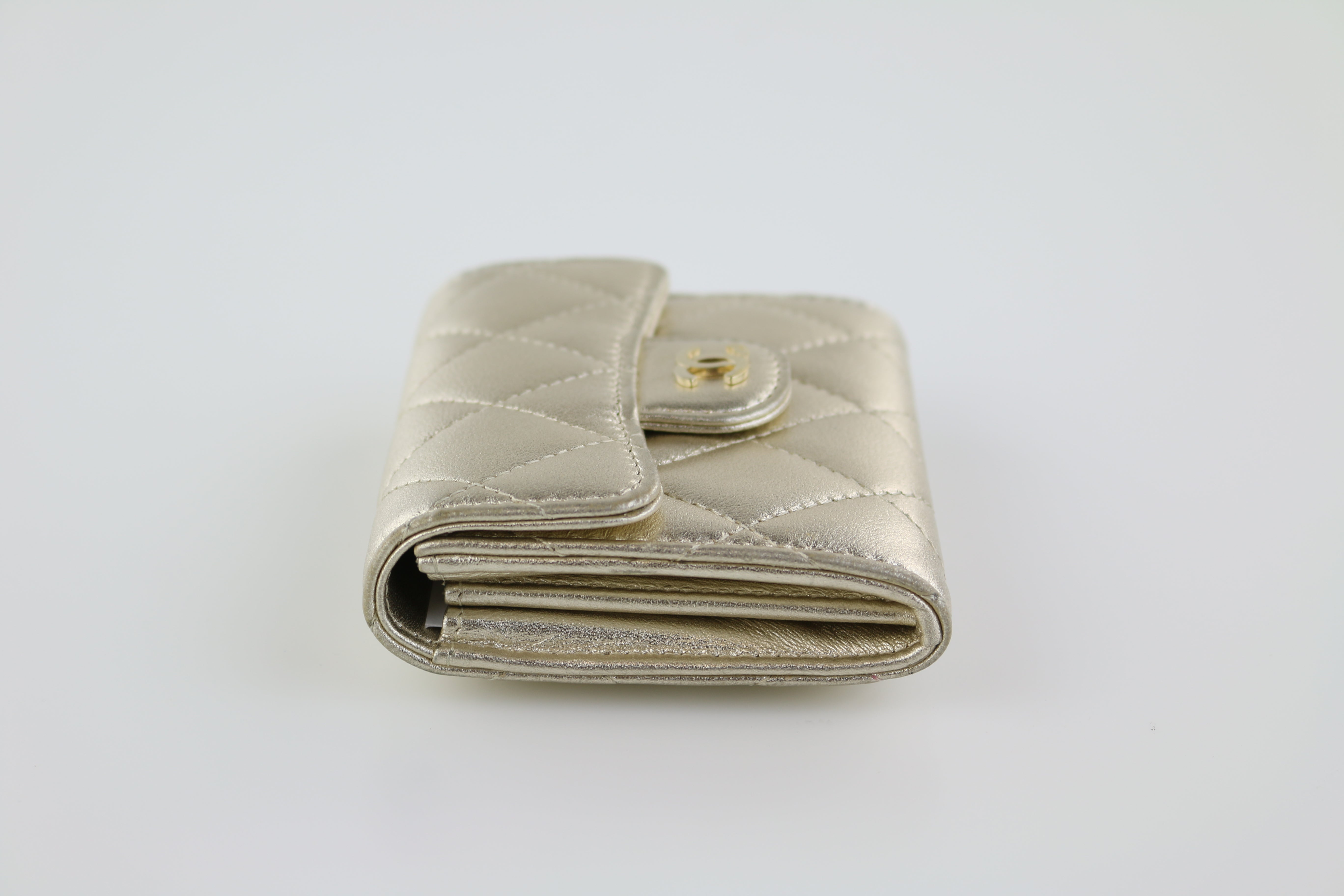 Gold Metallic Snap Card Case