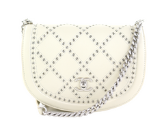 Ivory Small Coco Eyelets Round Flap
