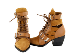 Brown Rylee Cutout Boots