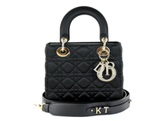 Small Black Satin 'Lady Dior'