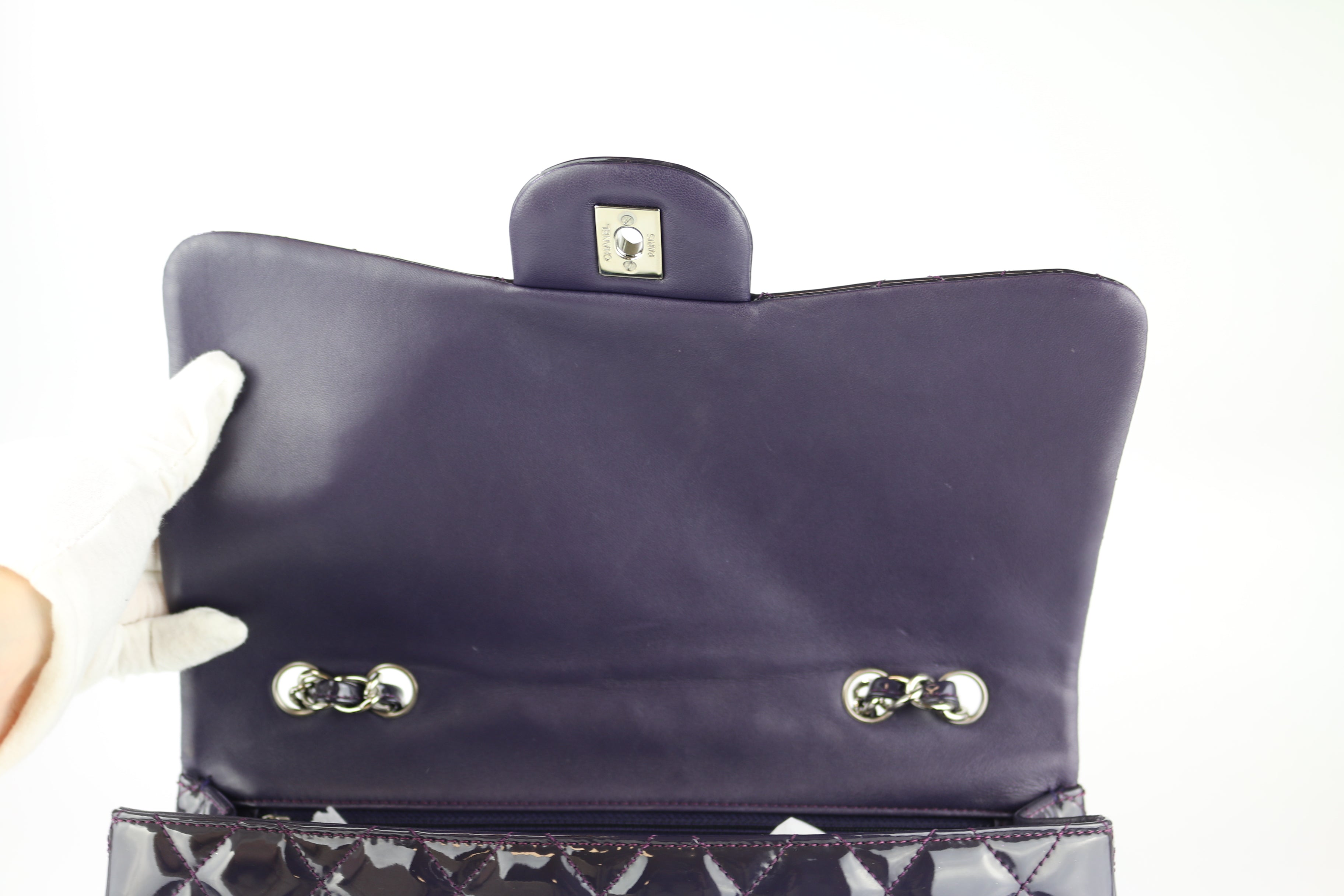 Plum Patent Single Flap Jumbo