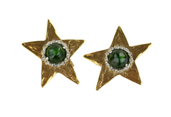 Gold Vintage Star Earrings