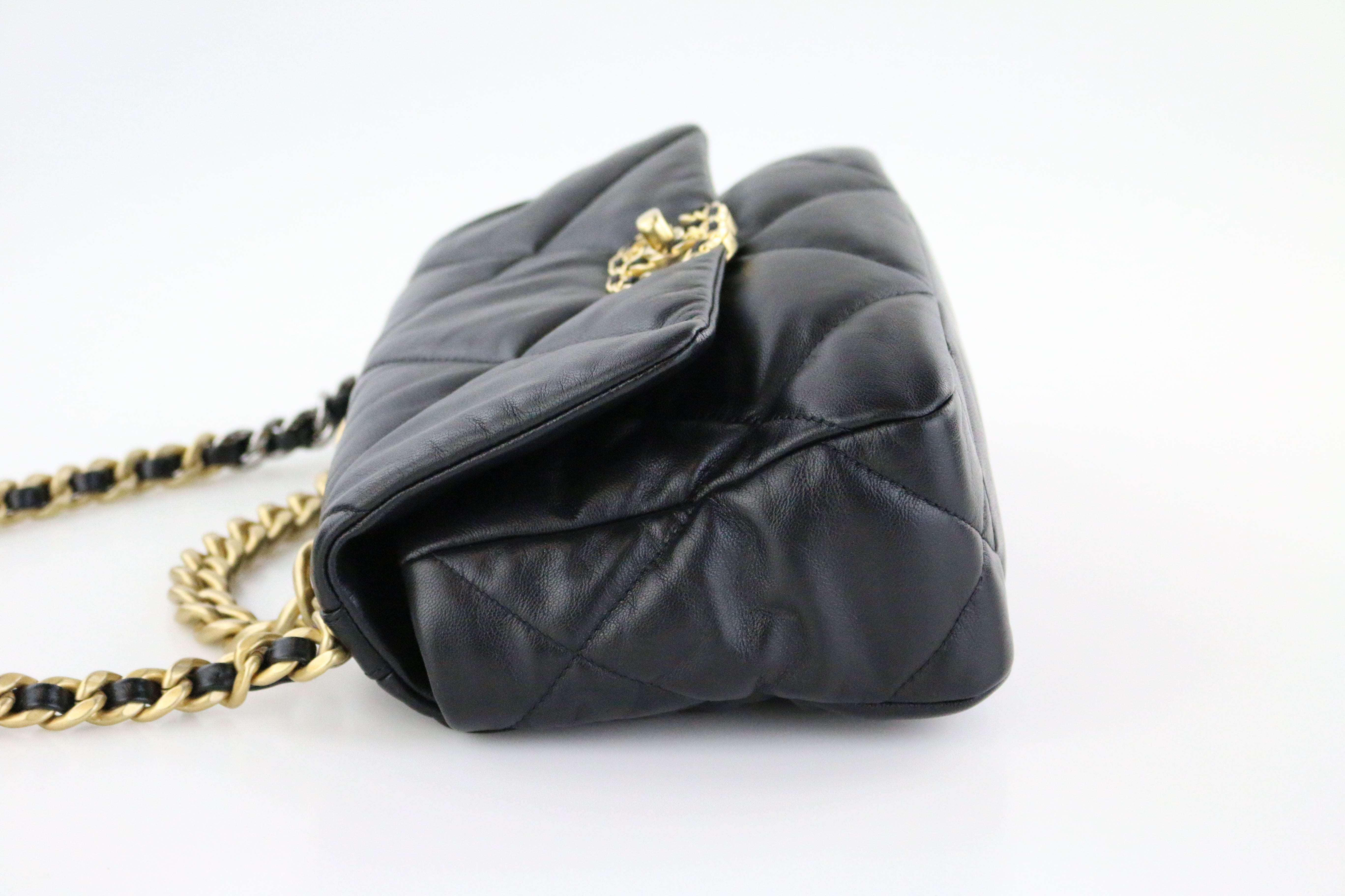 Black Goatskin Small 19 Flap