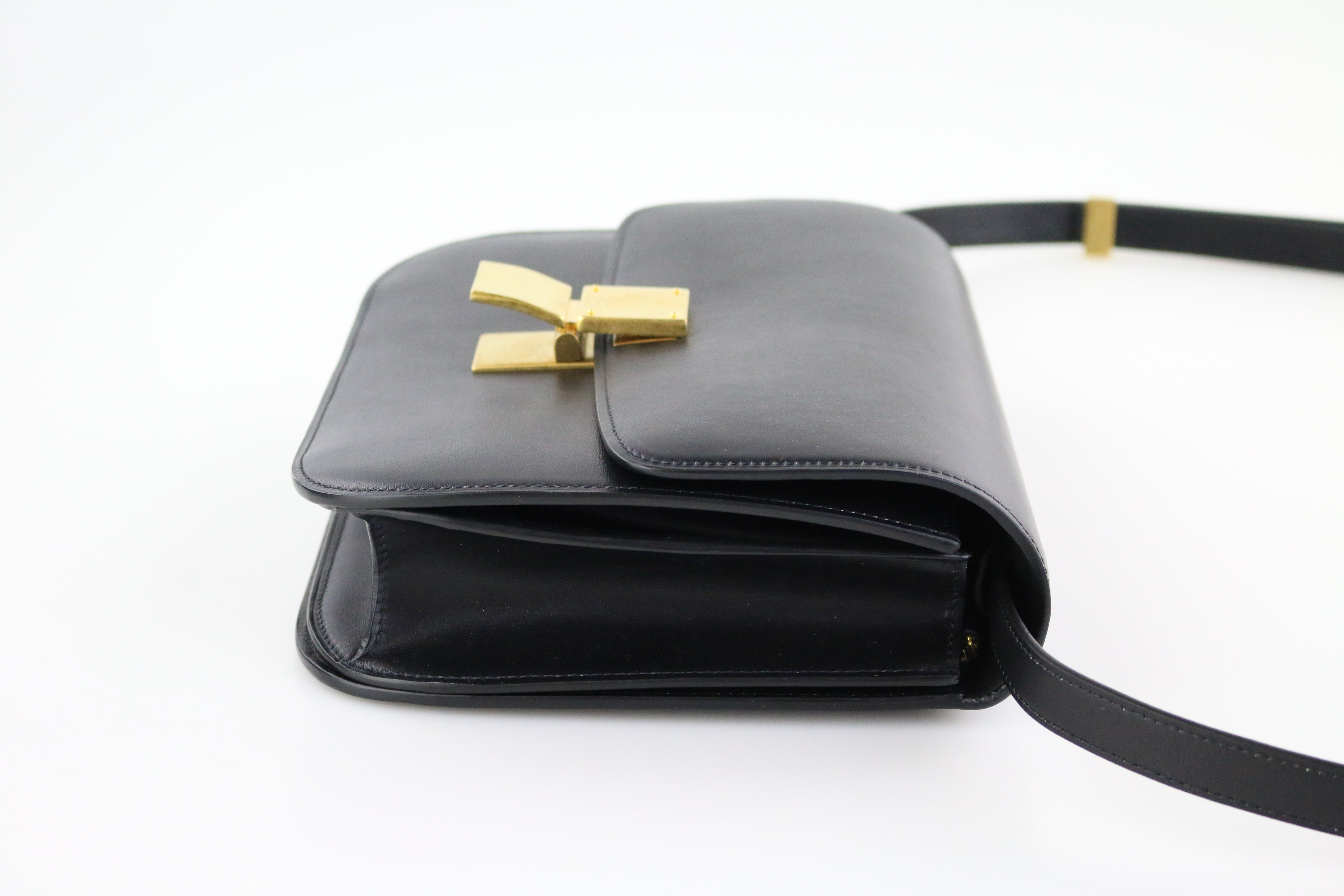 Black Medium Box Bag
